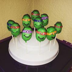 Ninja turtle cake pops!   Www.sdcakepopshop.com