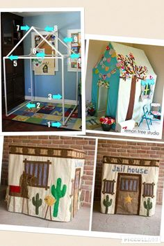 50 Ideas for baby room jungle playrooms Pvc Pipe Projects, Diy Projects, Pvc Playhouse, Girl Room, Baby Room, Diy For Kids, Crafts For Kids, Diy Toys, In Kindergarten