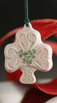 Belleek China Shamrock Puff 2014 Ornament Irish Pottery, Belleek China, Celtic Christmas, Belleek Pottery, Old Irish, Celtic Knot Designs, St Patrick's Day Decorations, Irish Traditions, Christmas Ornaments