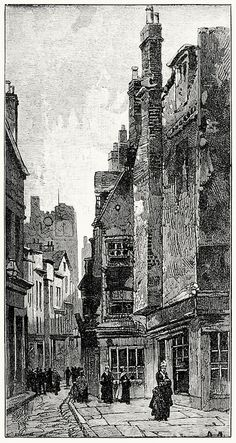 The street where Augusta lived. From Mr. Meeson's will, by Henry Rider Haggard, London, 1888.