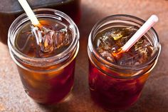 This boozy biscotti iced coffee recipe pairs cold-brewed coffee with amaretto and Pernod for a breakfast or brunch cocktail.