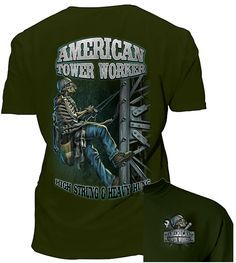 This Tower Climber - American Tower Worker tshirt has a great graphic! Heavy Hung. Yep! :o)