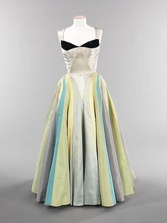 """Ribbon""  Charles James  (American, born Great Britain, 1906–1978)  Date: 1947 Culture: American Medium: silk Dimensions: Length at CB: 57 in. (144.8 cm) Credit Line: Brooklyn Museum Costume Collection at The Metropolitan Museum of Art, Gift of the Brooklyn Museum, 2009; Gift of Mrs. Douglas Fairbanks, Jr., 1981"