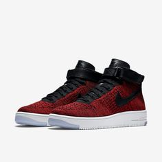 super cute 88002 bd849 Nike Air Force 1 Ultra Flyknit Men s Shoe University Red Team Red White