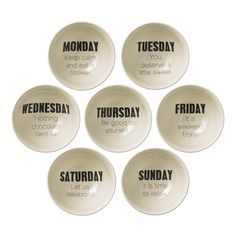Bloomingville Weekday Ceramic Bowl, Set of 7 Monday Tuesday, Thursday Friday, Friday Humor, Saturday Sunday, Funny Friday, Pink Bowls, Weekday Quotes, Pink Quotes, You Are Awesome