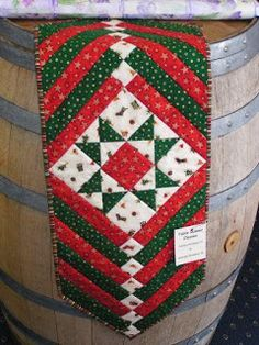 Every year we have a freebie class at Christmas time.  This table runner was our project in 2005 and we're blogging it due to popular dema...