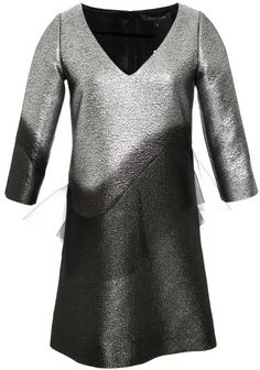 Marc Jacobs Organza-Trimmed Metallic Ombre Mini Dress Silver on shopstyle.com