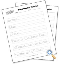 Handwriting Without Tears Letter Formation Charts