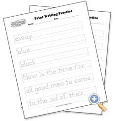 Print Handwriting Sheets - customize & printable