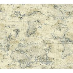 Nautical Living Cream And Marine Blue Coastal Map Wallpaper Wallpaper Wall Decor Home Dec