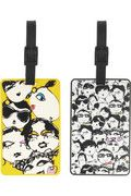 Lanvin   Set of two printed plastic luggage tags   NET-A-PORTER.COM