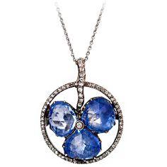 FABERGÉ Belle Epoque Sapphire Diamond Brooch/Pendant;   St. Petersburg, Russia,   ca. 1900
