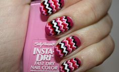 Find images and videos about cute, nails and nail art on We Heart It - the app to get lost in what you love. Great Nails, Fabulous Nails, Cool Nail Art, Cute Nails, Zig Zag Nails, Dry Nails Fast, Funky Nails, Nail Envy, Cool Nail Designs