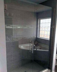 Add an abundance of natural daylight to your bathroom with the top 70 best shower window ideas. Explore circular to rectangular window designs. Bathroom Windows In Shower, Skylight Bathroom, Window In Shower, Loft Bathroom, Glass Bathroom, Master Bathroom, Bathroom Ideas, Shower Makeover, Glass Blocks
