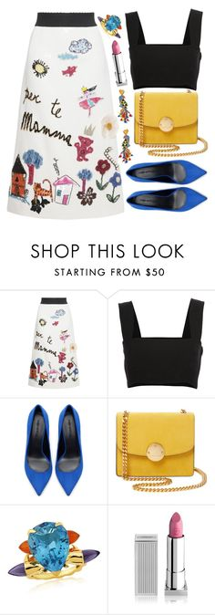 """""""Untitled #4358"""" by natalyasidunova ❤ liked on Polyvore featuring Dolce&Gabbana, Yves Saint Laurent, Zara, Marc Jacobs, Tory Burch, Maiko Nagayama and Lipstick Queen"""