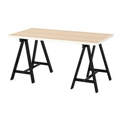 IKEA ODDVALD/LINNMON Table White white stained oak effect/black cm Board-on-frame is a strong and lightweight material with a frame in wood,. Ikea Inspiration, Ikea Linnmon, Armoire Pax, Ikea Family, White Stain, Black Table, Office Table, Ikea Office, Bedroom Decor