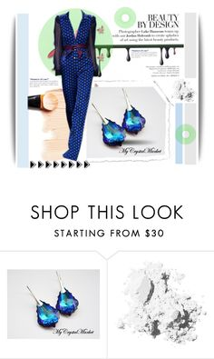 """""""MyCrystalMarket"""" by amerlinakasumovic ❤ liked on Polyvore featuring Diane Von Furstenberg, Bobbi Brown Cosmetics, Essie, Blue, earrings and crystals"""
