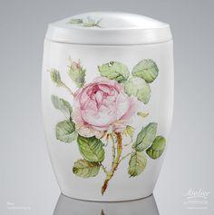 Urnen Individuell gestaltet | Sonderanfertigung Rose Porzellan Cremation Urns, Flower Art, Jar, Painting, Home Decor, Flowers, Urn, Custom Cars, Watercolour