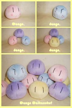 Clannad: The Dango Family... Need the top two! rascally grilled dango and jam dango ^.^