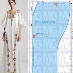 Sewing Patterns Free, Clothing Patterns, Sewing Clothes, Diy Clothes, Kaftan Designs, Abaya Pattern, Dress Making Patterns, Couture Sewing, Fashion Sewing