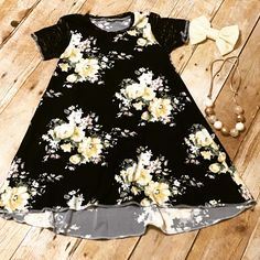 Handmade lace sleeve floral hi/low dress