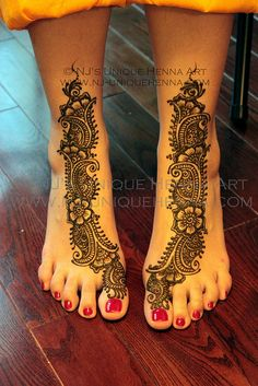 Henna's bridal mehndi feet 2011 © NJ's Unique Henna Art | Flickr - Photo Sharing!