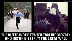 tom hiddleston memes | Tom Hiddleston Vs Justin Bieber At The Great Wall Of China ...