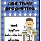 This collection of activities can be used in countless  ways. I have provided a set of bulletin board chart  displays with a specific material (metal...
