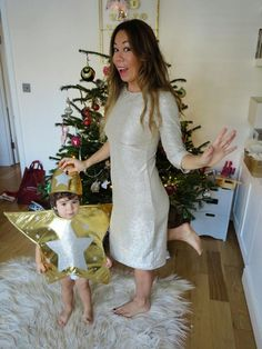The Gold Dress - read my latest post on Christmas Party Dresses and Outfits on www.bikinisandbibs.co.uk