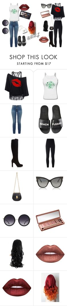 """""""BFFL QUEEN"""" by brianna-felder ❤ liked on Polyvore featuring Current/Elliott, Schutz, Dune, adidas Originals, Chloé, Tom Ford, Alice + Olivia, Urban Decay, Maybelline and Lime Crime"""