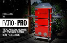 Hephaestus BBQ - Patio-Pro. Nifty looking all-in-one unit for grilling, smoking, and baking. Says it can use charcoal or hardwood.