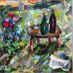 My favorite fiber artist, Edrica Huws Quilting Projects, Quilting Designs, Art Quilting, Quilt Art, Quilting Ideas, Crazy Quilting, Landscape Art Quilts, Art Tribal, Contemporary Quilts
