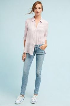 Anthropologie Levi's 711 Skinny Altered Mid-Rise Jeans