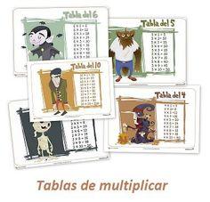 """Tablas de multiplicar monstruosas    El Mundo de los números, Recursos para el aula  Las tablas de multiplicar no tienen porque ser aburridas.  ¿Qué te parecen estas """"Tablas de multiplicar monstruosas""""?"""