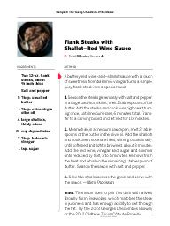 "I saw this in ""Flank Steaks with Shallot–Red Wine Sauce"" in Food & Wine April 01, 2015."