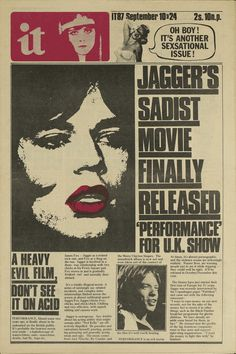 "Capa de jornal ""International Times"" Setembro de 1987"