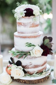 almost naked cake http://frostitcupcakery.com/gallery/wedding-cakes/