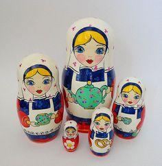 Anidamiento matryoshka muñecas rusas de madera por FolkSouvenir