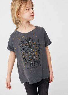 T-shirt algodão estampada -  Criança   MANGO Kids Portugal