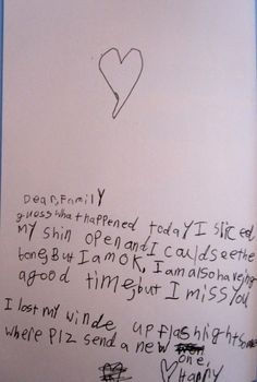 I could see the bone, but I'm fine! 25 Funny Notes Written By Kids