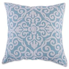 product image for Levtex Home Massana Crewel Throw Pillow in Teal