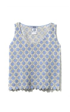 Lace Appliqué Tank by Moschino for Preorder on Moda Operandi