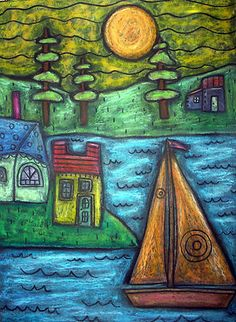 9x12 original oil pastel, copyrighted, www.karlagerard.com