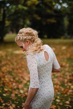 handknitted wedding dress