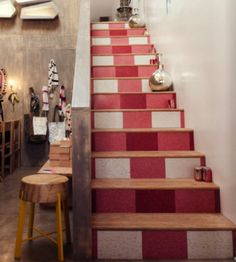 gingham stairs!