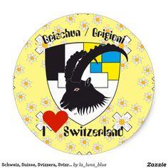 Schweiz, Suisse, Svizzera, Svizra, Kleber Runder Aufkleber