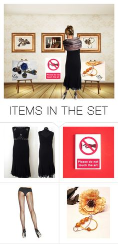 """Art exhibition"" by riagr ❤ liked on Polyvore featuring art and vintage"
