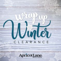 Spring merchandise is arriving daily the winter items must go! Racks at $5