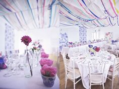 Ruffled | Colorful Streamers in a White Space