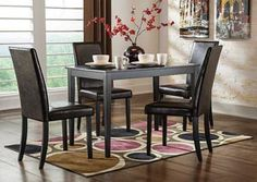 Kimonte Rectangular Table, 2 Ivory UPH Side Chairs & 2 Brown UPH Side Chairs by Signature Design by Ashley. Get your Kimonte Rectangular Table, 2 Ivory UPH Side Chairs & 2 Brown UPH Side Chairs at Price Busters Furniture, Baltimore MD furniture store. Dining Room Sets, Dining Room Chairs, Dining Furniture, Side Chairs, Regency Furniture, Furniture Sets, Dining Tables, Small Dining Rooms, Fine Dining
